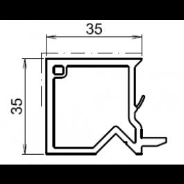tap e d 39 isolation pour fenetre blanche 35mm. Black Bedroom Furniture Sets. Home Design Ideas