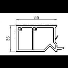 tap e d 39 isolation pour fenetre chene dore 55mm. Black Bedroom Furniture Sets. Home Design Ideas