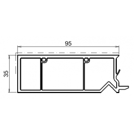 tap e d 39 isolation pour fenetre chene dore 95mm. Black Bedroom Furniture Sets. Home Design Ideas