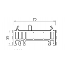 Rehausse / elargisseur kommerling de 25 mm BLANC